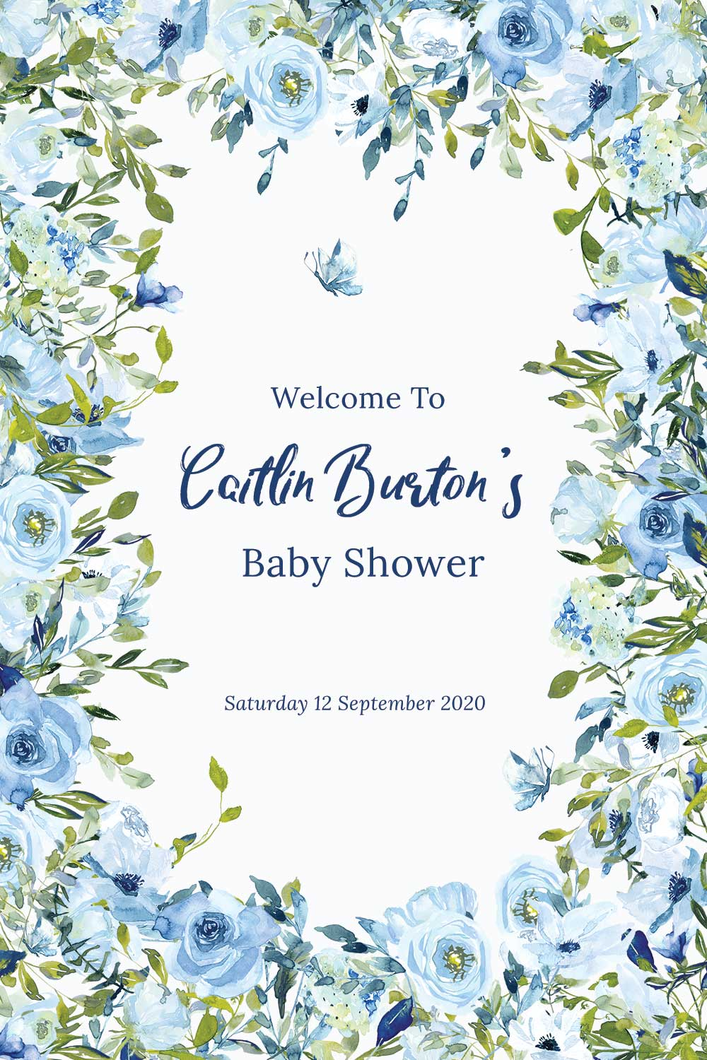 Baby Shower Welcome signs - Sky Theme