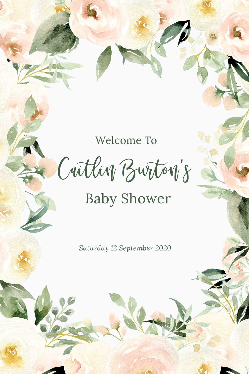 Baby Shower Welcome signs - Blush Theme