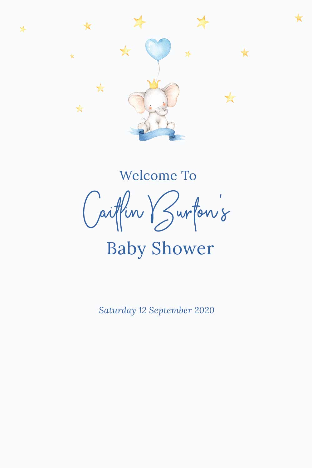 Baby Shower Welcome signs - Elephant theme