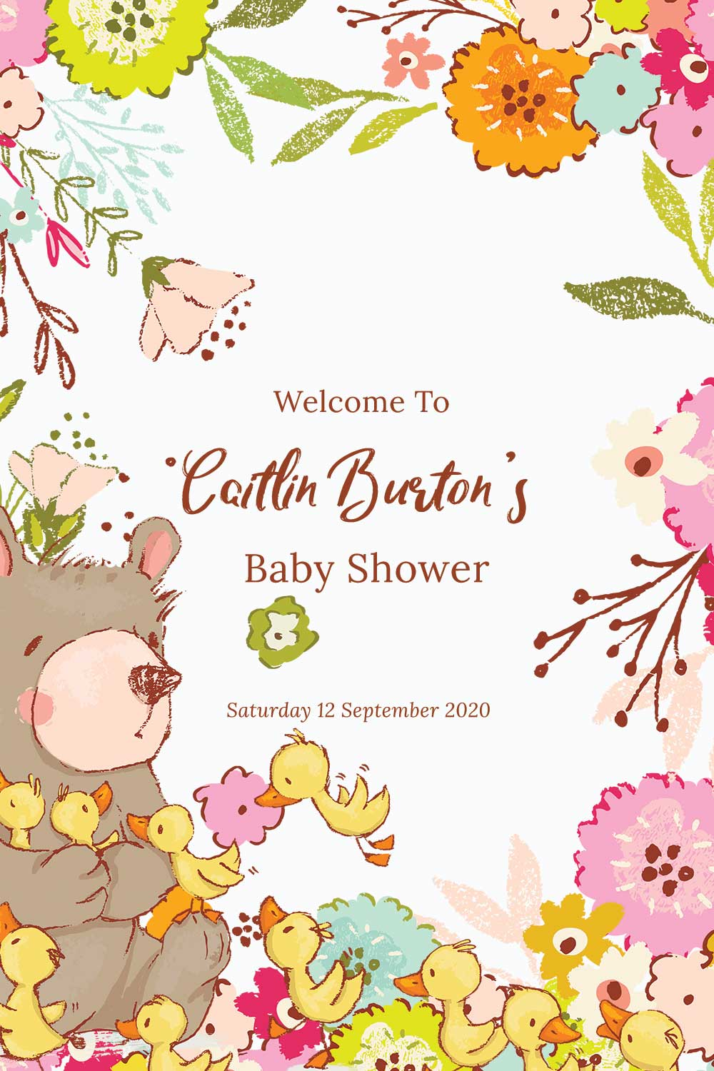 Baby Shower Welcome signs - Spring theme