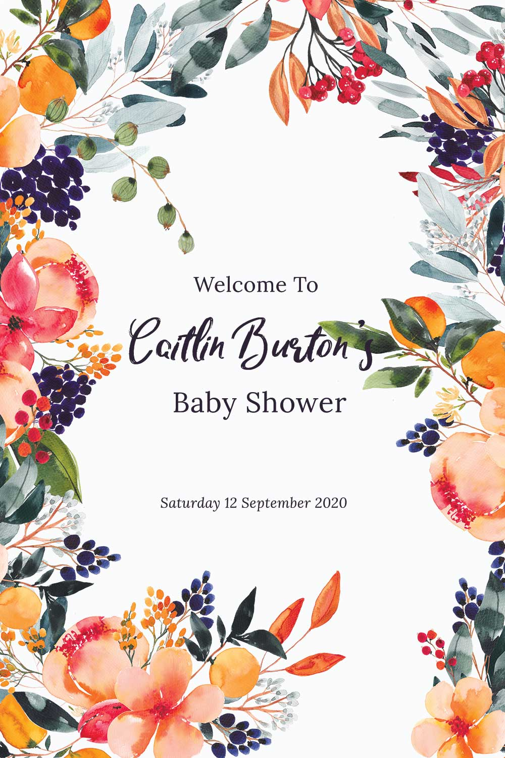 Baby Shower Welcome signs - Summer Theme