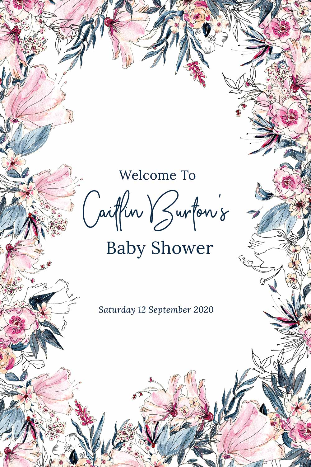 Baby Shower Welcome signs - Swan Theme