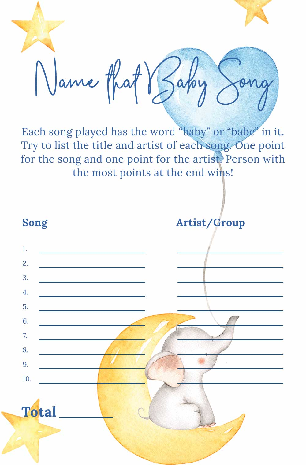 Name that baby song game - Elephant theme