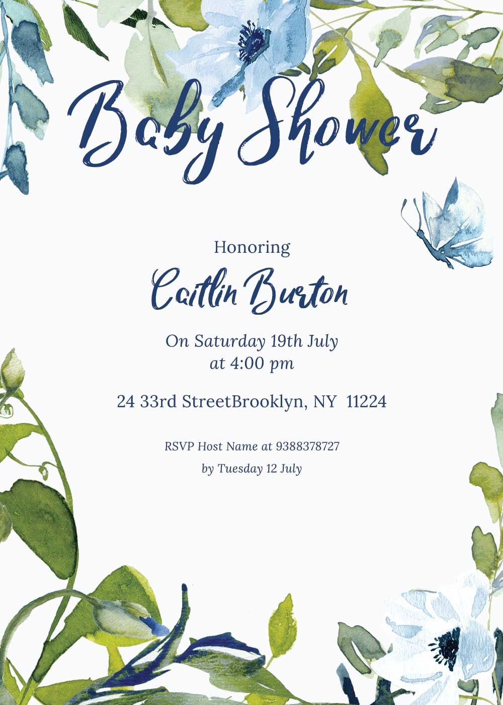 Baby shower invitations - Sky Theme