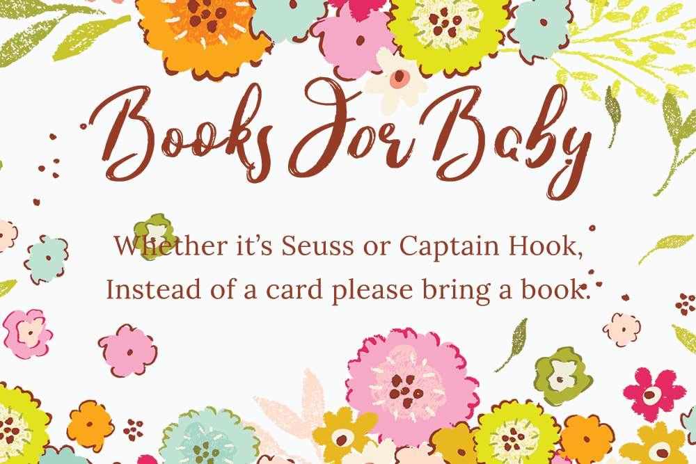 Baby Shower books for baby inserts - Spring theme