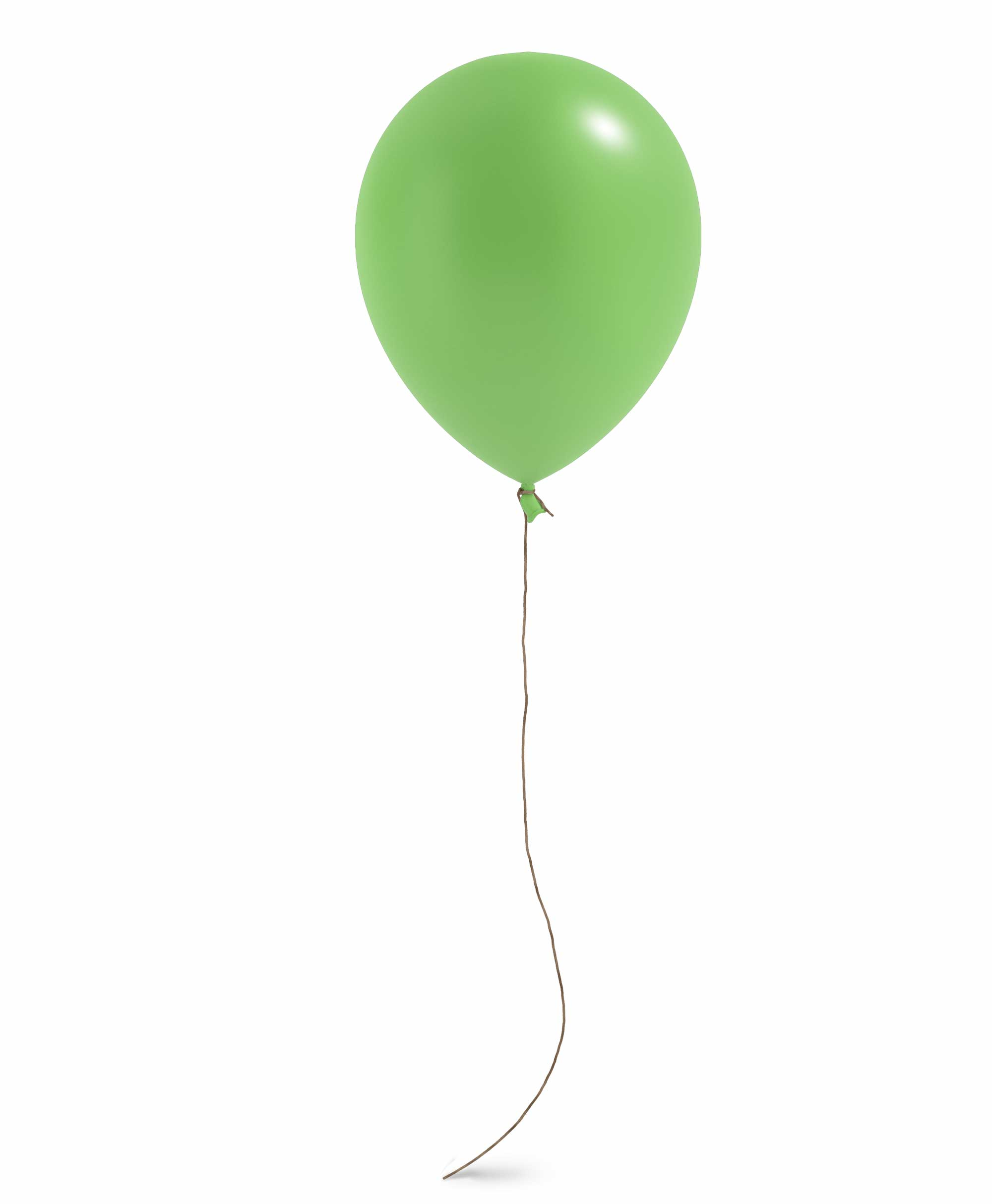 "Lime balloon 11"" - Spring theme"