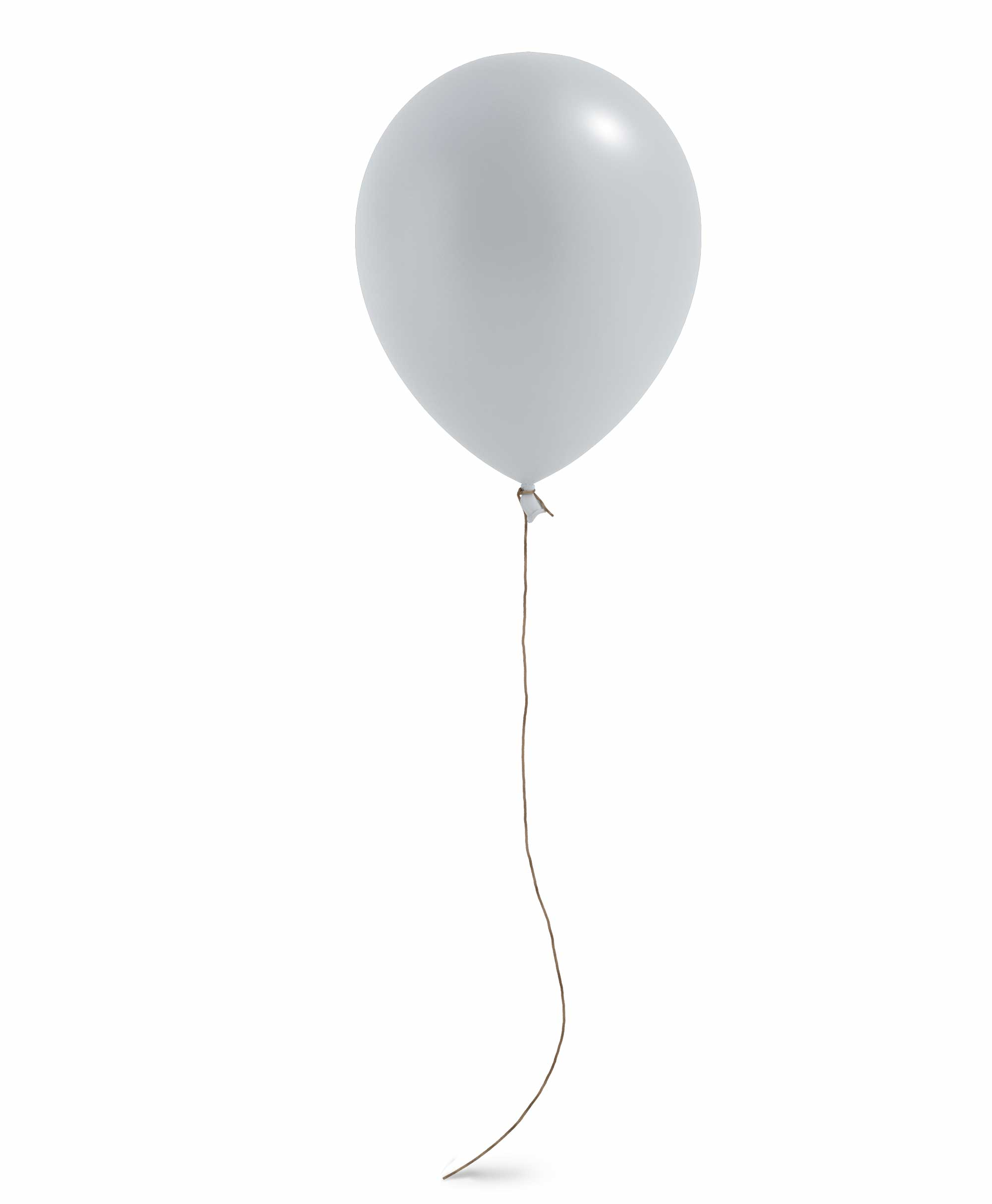"Grey balloon 11"" - Blush Theme"
