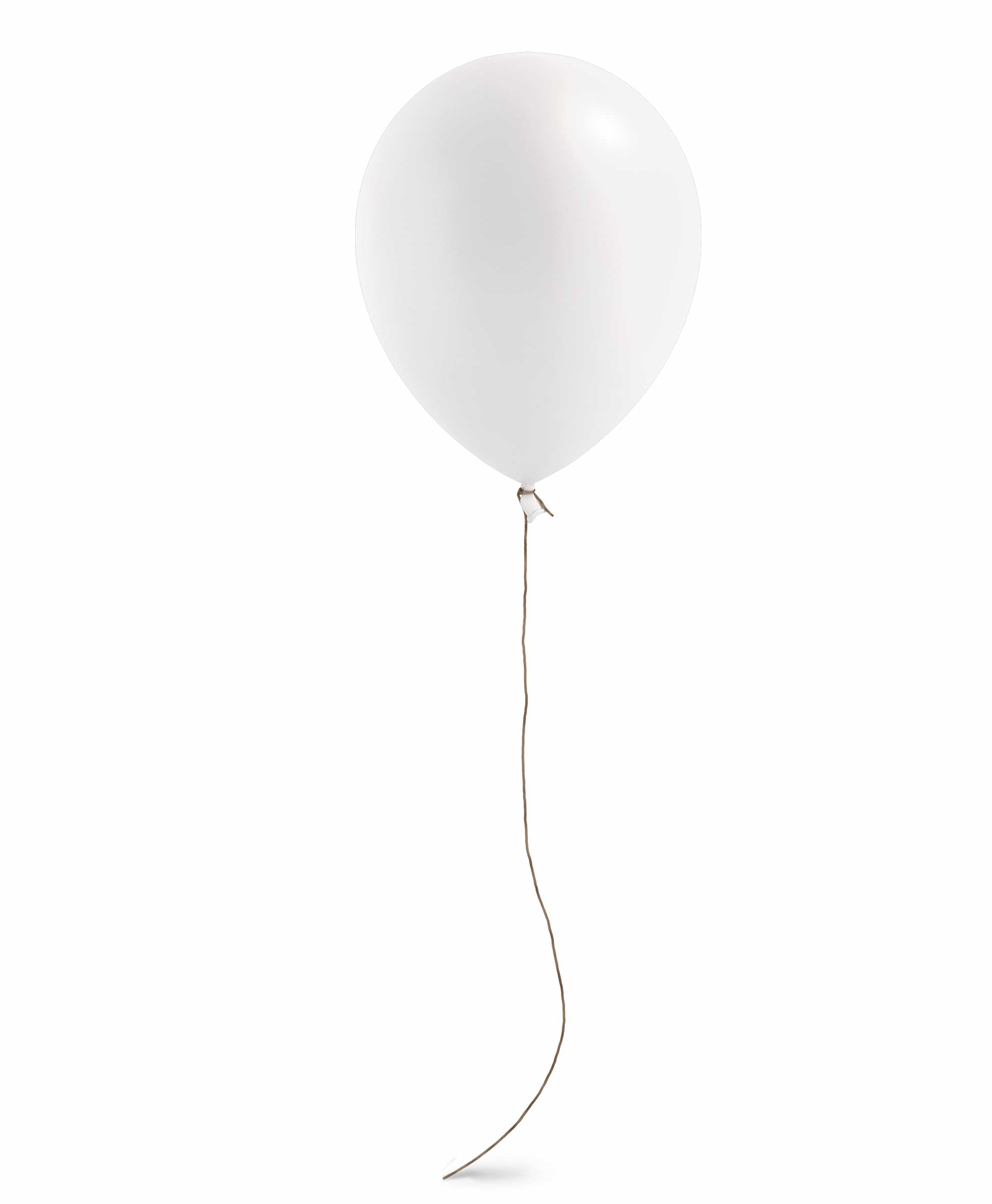 "White balloon 11"" - Blush Theme"