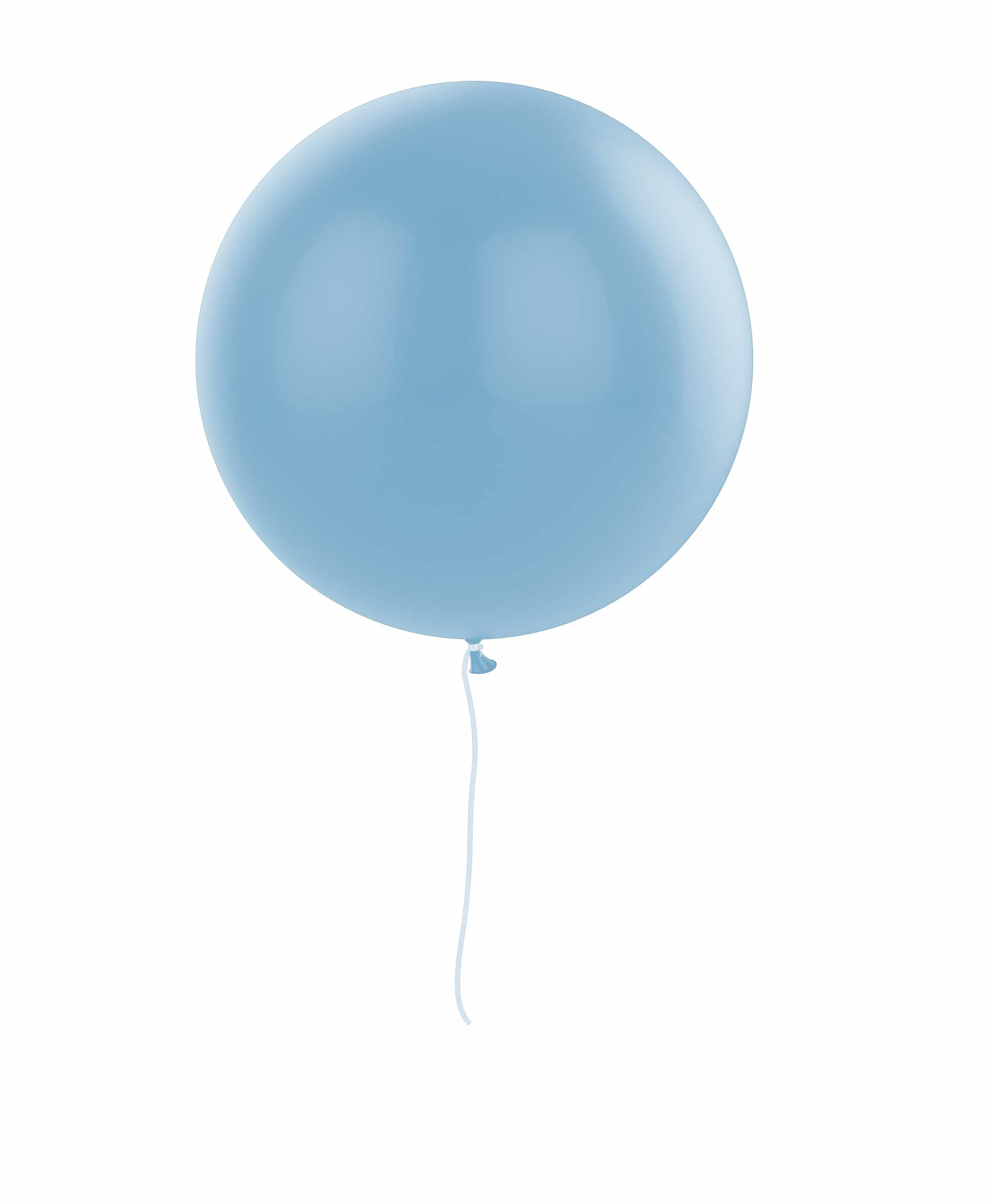 "Light blue balloon 36"" - Elephant theme"