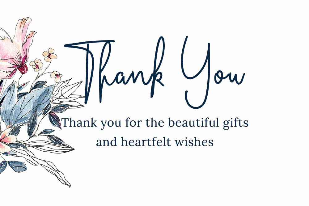 Baby Shower Thank you cards - Swan Theme