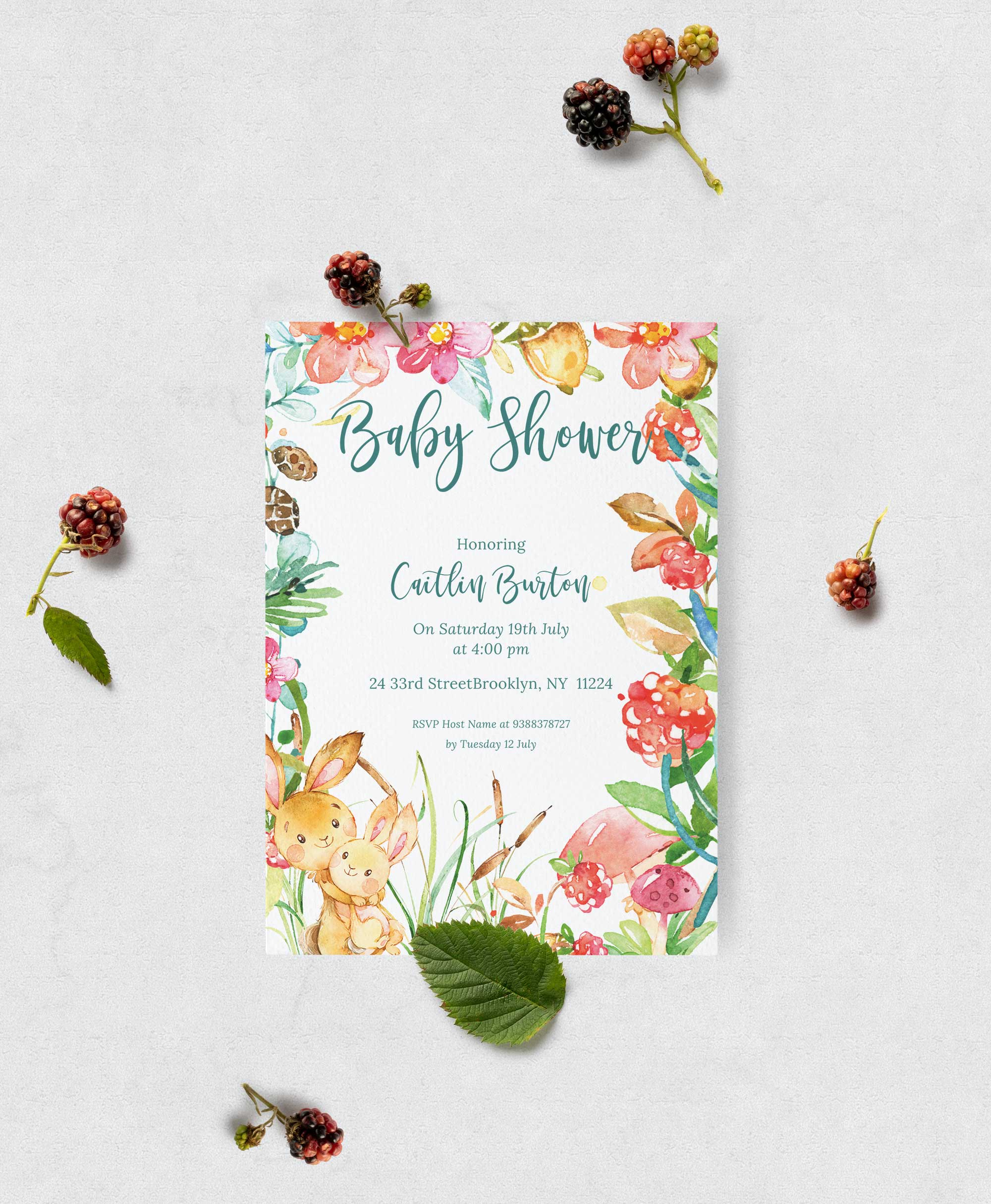 Baby Shower books for baby inserts - Raspberry theme